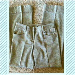 Elevenses Trouser Pants - green wool cuffed